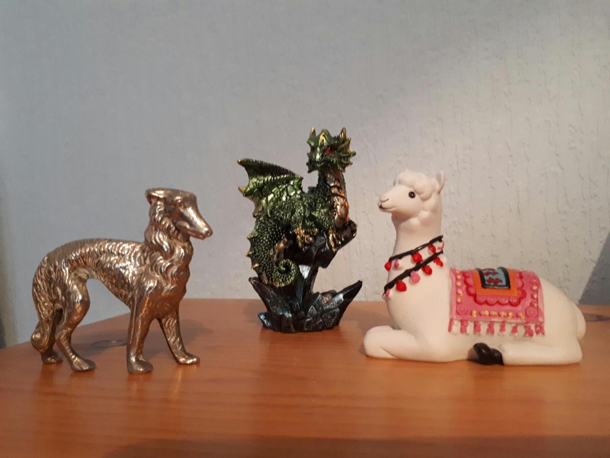 dog dragon llama